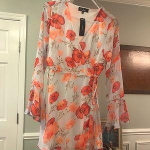 Gorgeous Lola FlutterSleeve Wrap Dress NWT